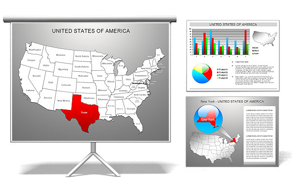 PowerPoint Presentation Maps Download US Maps World Mapsppt - Powerpoint us map