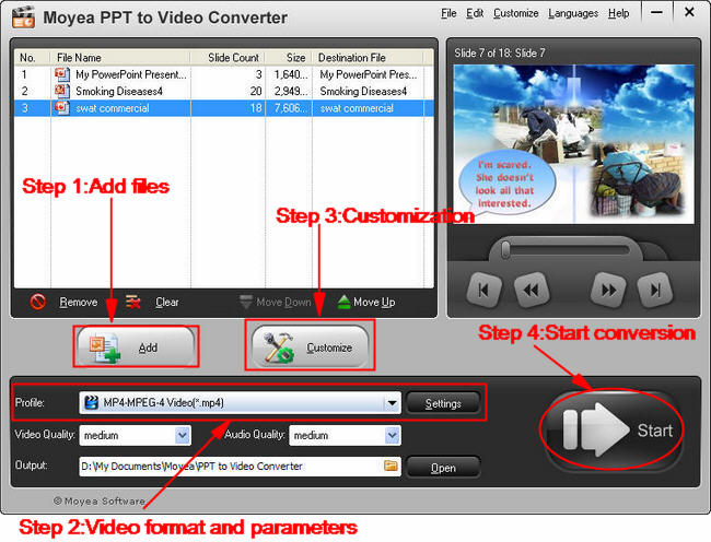 PowerPoint to Blackberry Playbook: steps