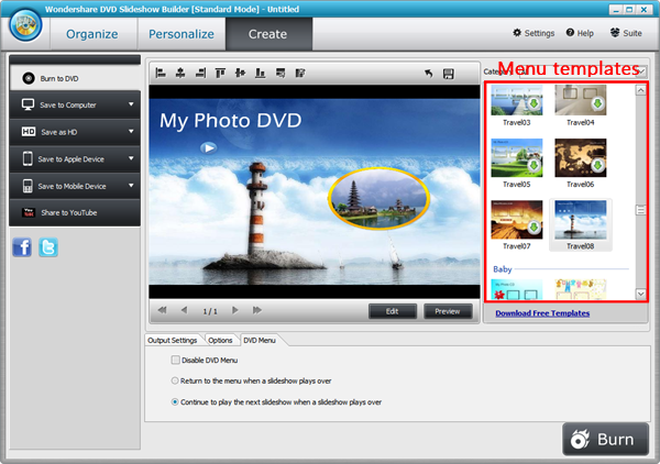 dvd flick menu templates - how to create a dvd photo book for watching on tv using