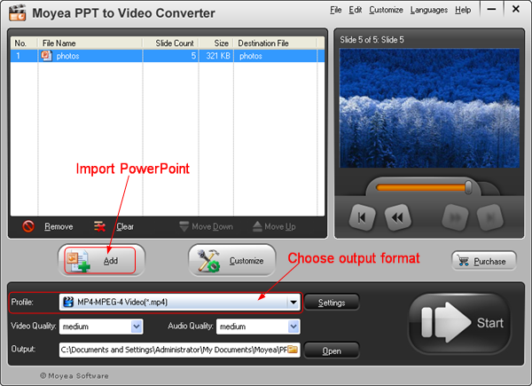 PPT to Iconia W700: PPT to MP4 video
