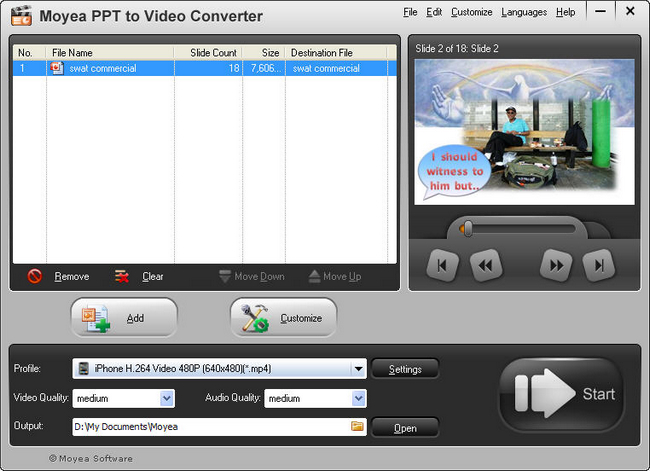 PowerPoint to iPhone 3GS: Add PPT file