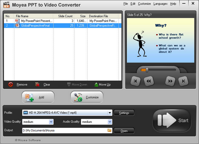 PowerPoint to LG Optimus 2X: Add PPT File