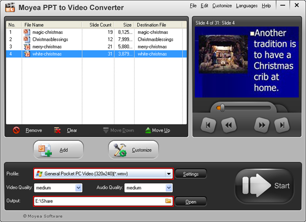 convert PowerPoint presentation to Pocket PC video