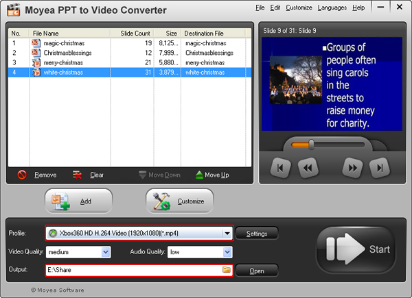 Powerpoint to xbox 360 ppt to xbox 360 converter convert convert powerpoint presentation to xbox 360 video toneelgroepblik Choice Image