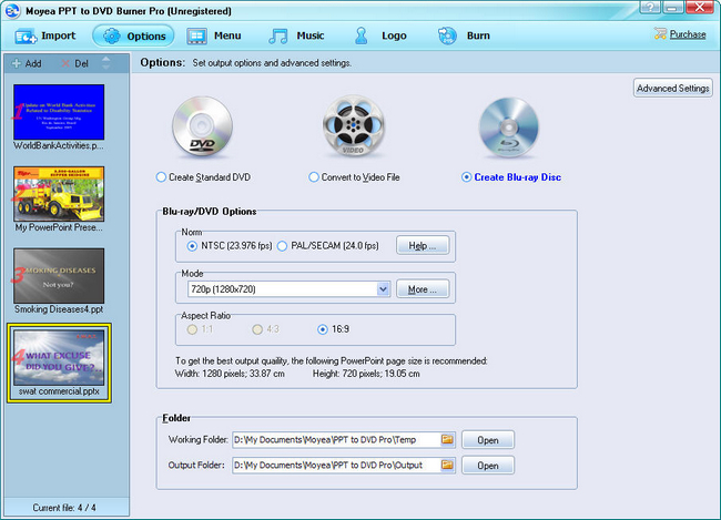 PowerPoint to PS3: Create Blu-ray Disc