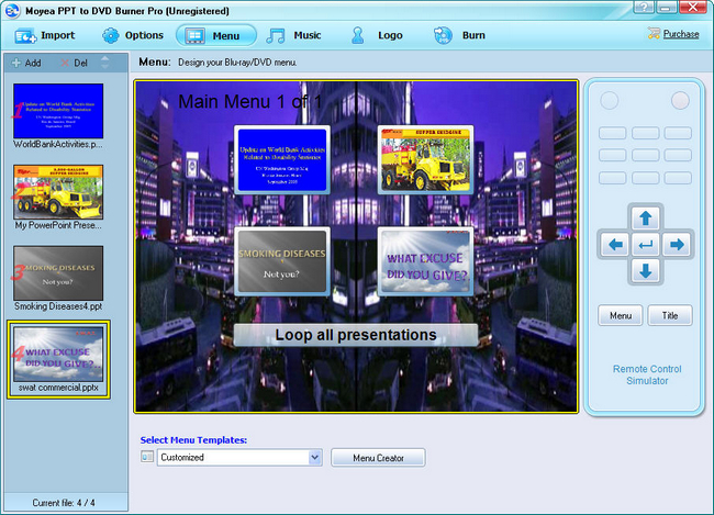 PowerPoint to PS3: Create Blu-ray Disc Menu