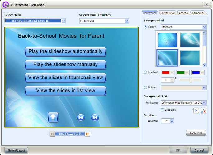 Moyea PPT to DVD Burner Lite Tutorial for Powerpoint to DVD Conversion