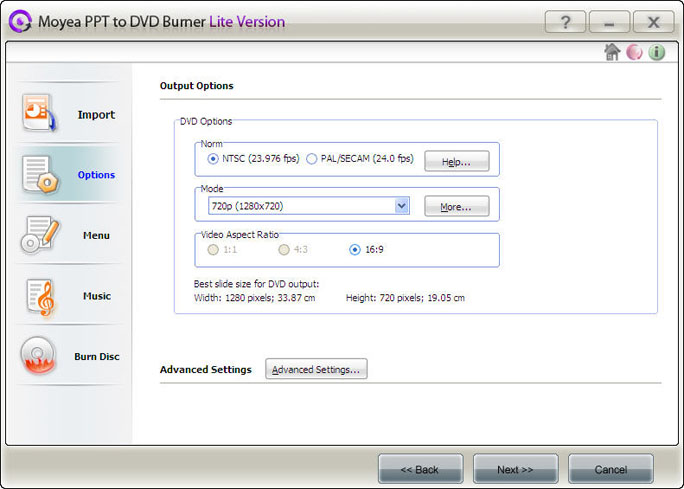 Moyea ppt to dvd burner lite 2.1.2.18