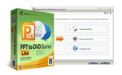 PPT to DVD burner Lite - convert PowerPoint to dvd, convert PowerPoint to video